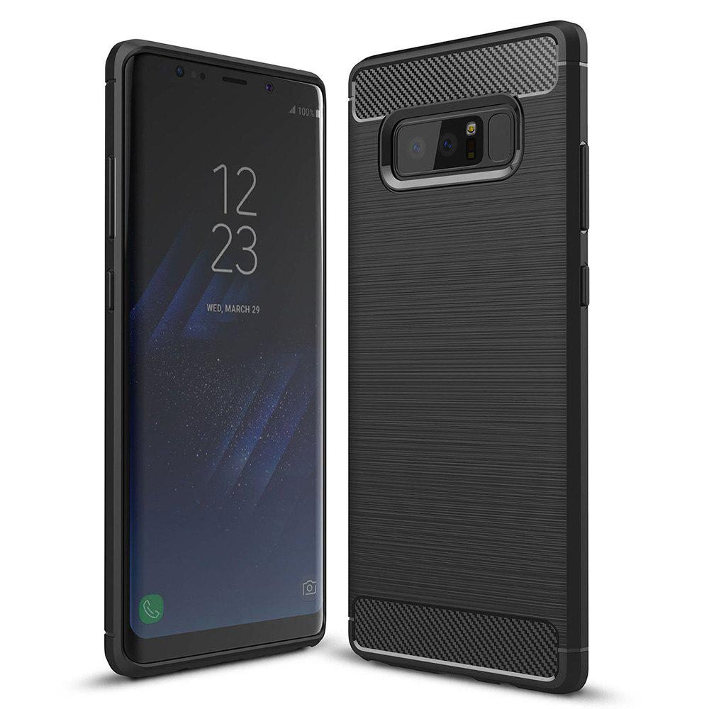 ASLING Carbon Fiber TPU Brushed Finish Case for Samsung Galaxy Note 8 226790301