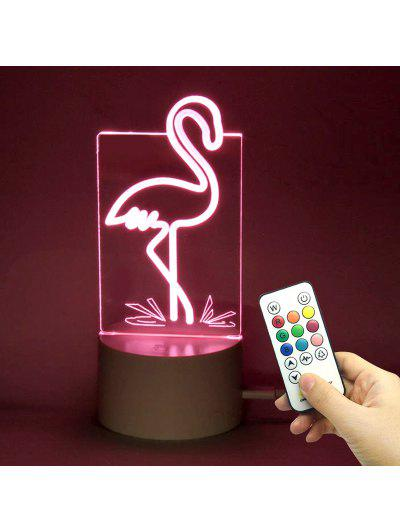 Image of Color Changing Flamingo Shape Telecontrol Night Light