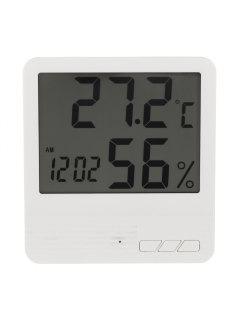 Reloj LCD Medidor De Humedad De Temperatura Interior - Blanco