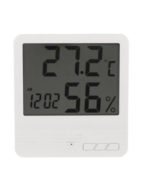 lady Indoor LCD Electronic Temperature Humidity Meter Clock -   Mobile