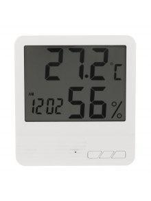 داخلي لد الالكترونية الرطوبة متر ساعة - أبيض
