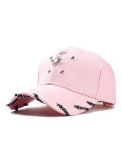 Fashion Unisex Classic Trucker Baseball Golf Mesh Cap Hat Vintage Question Mark Women Men Hip-hop Cap - Pink