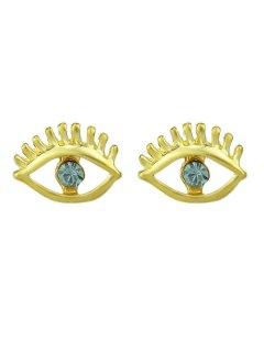 Simple Geometry Earrings Sweet Earrings Female Asymmetric Earrings - Blue