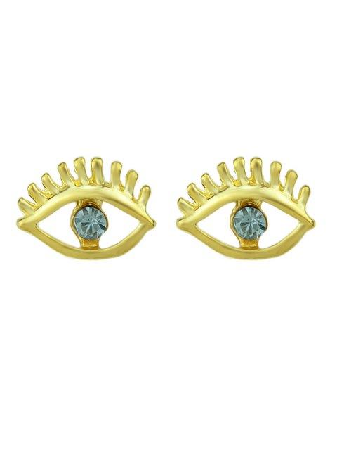 outfits Simple Geometry Earrings Sweet Earrings Female Asymmetric Earrings - BLUE  Mobile
