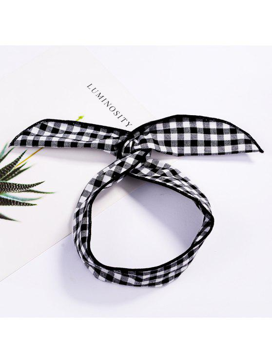 sale Fashion Plaid Knot Headband Turban Elastic Hairband Head Wrap Hair Accessories for Women Girls Striped Headwear Accessories - #004