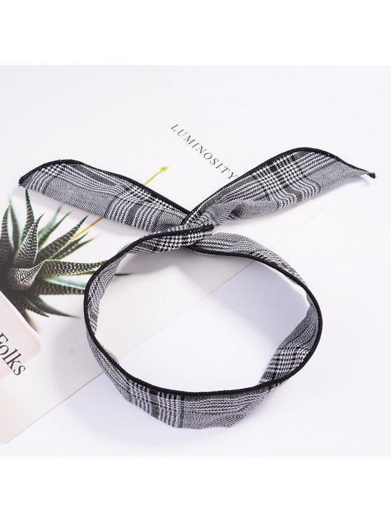 buy Fashion Plaid Knot Headband Turban Elastic Hairband Head Wrap Hair Accessories for Women Girls Striped Headwear Accessories - #006