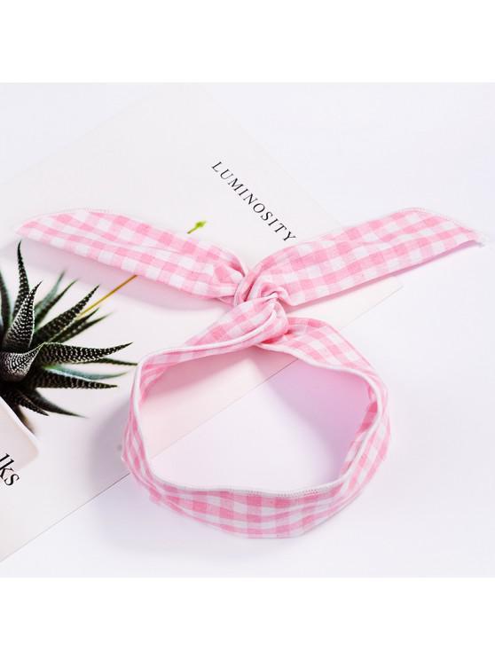 Fashion Plaid Knot Headband Turban Elastic Hairband Head Wrap Hair  Accessories for Women Girls Striped Headwear Accessories #003 WHITE