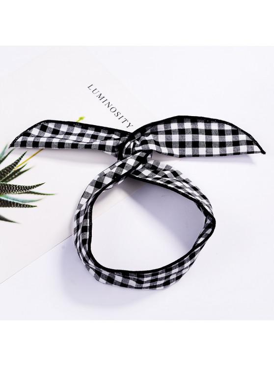 Fashion Plaid Knot Headband Turban Elastic Hairband Head Wrap Hair  Accessories for Women Girls Striped Headwear Accessories #004 WHITE