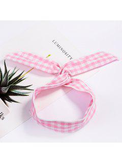 Fashion Plaid Knot Headband Turban Elastic Hairband Head Wrap Hair Accessories For Women Girls Striped Headwear Accessories - #003