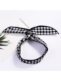 Fashion Plaid Knot Headband Turban Elastic Hairband Head Wrap Hair Accessories For Women Girls Striped Headwear Accessories - #004