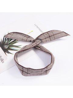 Fashion Plaid Knot Headband Turban Elastic Hairband Head Wrap Hair Accessories For Women Girls Striped Headwear Accessories - #005