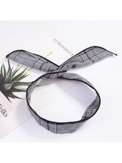 Fashion Plaid Knot Headband Turban Elastic Hairband Head Wrap Hair Accessories For Women Girls Striped Headwear Accessories - #006