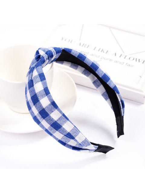 fashion Girl Colorful Nylon Velvet Knot Headband Hair Holder Ornament Children Hairband Hair Accessories Kids Hair Band - SAPPHIRE BLUE  Mobile