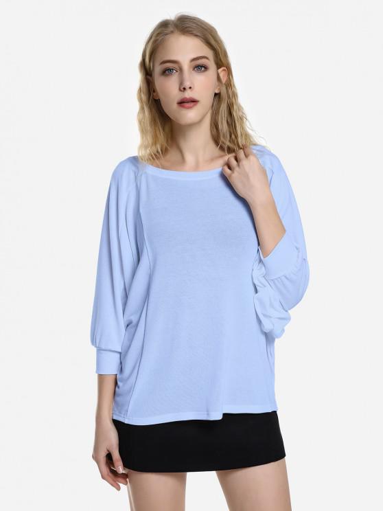 ZAN.STYLE Dolman Sleeve Top - Небесно-голубой цвет XL