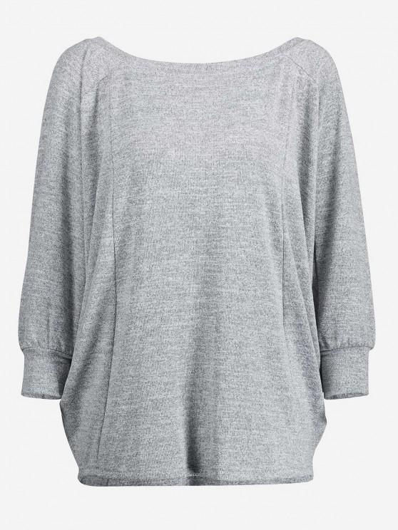 ZAN.STYLE Dolman Sleeve Top - Светло-серый L