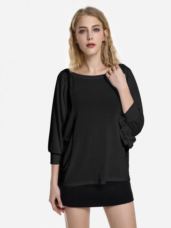 ZAN.STYLE Dolman Sleeve Top - أسود XL