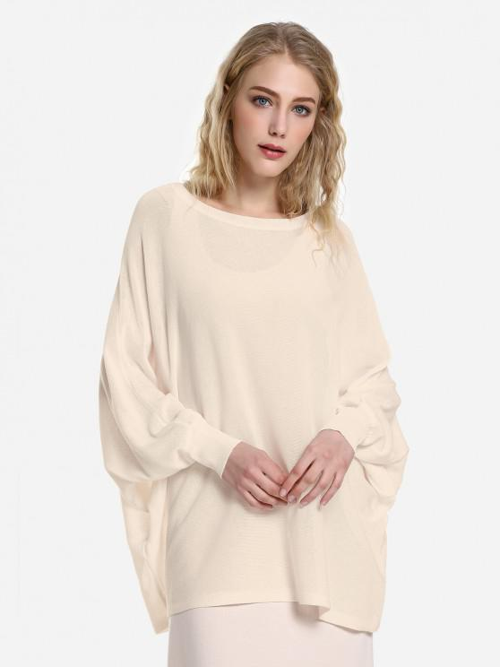 ZAN.STYLE Long Sleeve Round Neck Top - مشمش L