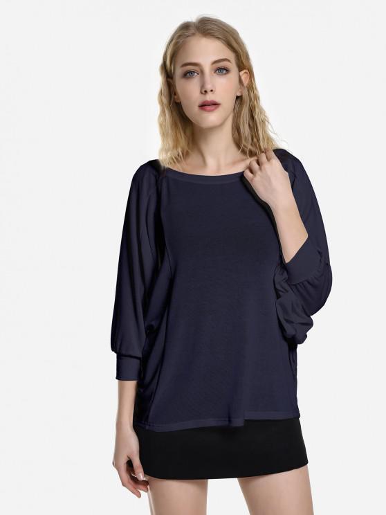 ZAN.STYLE Dolman Sleeve Top - Кубовый цвет XL