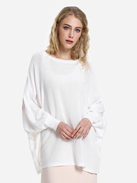 best ZAN.STYLE Long Sleeve Round Neck Top - WHITE M Mobile