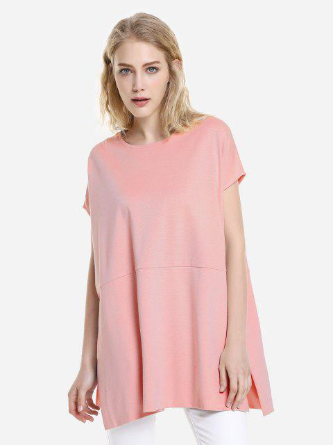 outfits ZAN.STYLE Drop Shoulder Sleeve Top - ORANGEPINK L Mobile