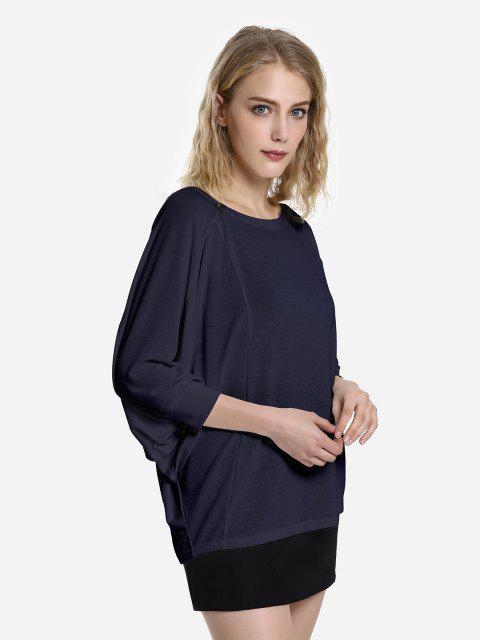 fashion ZAN.STYLE Dolman Sleeve Top - ROYAL XL Mobile