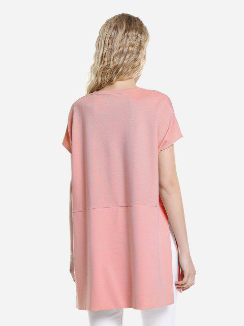 chic ZAN.STYLE Drop Shoulder Sleeve Top - ORANGEPINK M Mobile