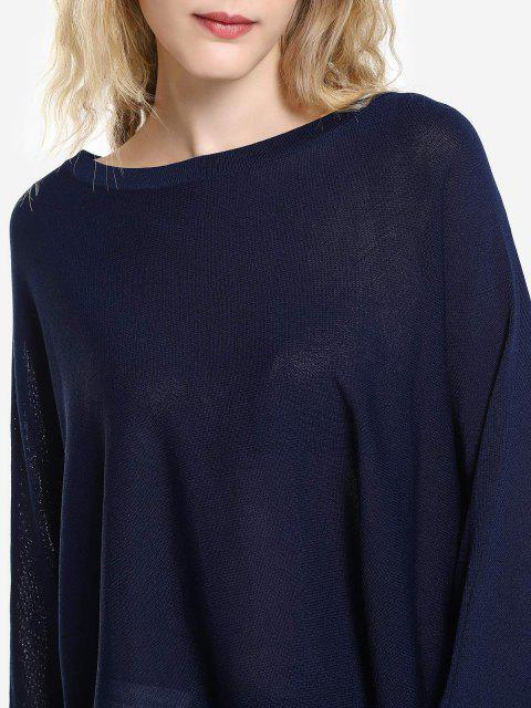 ZAN.STYLE Long Sleeve Round Neck Top - 藏青 L Mobile
