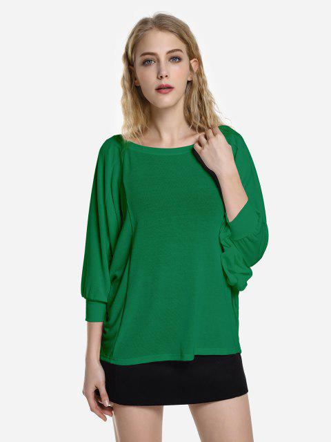 affordable ZAN.STYLE Dolman Sleeve Top - DEEP GREEN XL Mobile