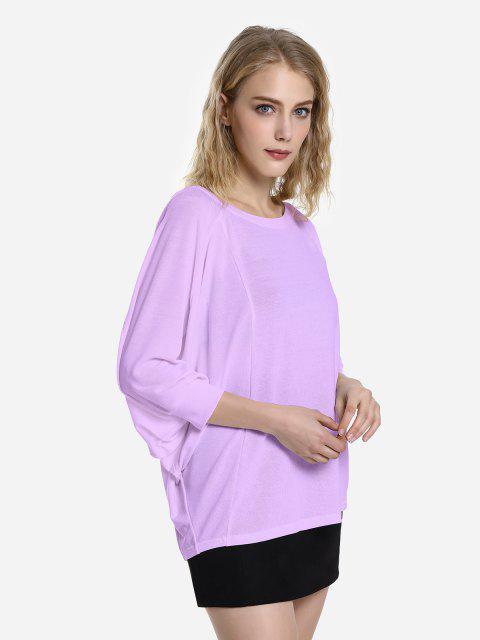 buy ZAN.STYLE Dolman Sleeve Top - PURPLE XL Mobile