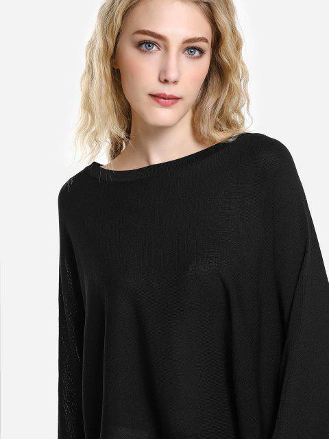 women ZAN.STYLE Long Sleeve Round Neck Top - BLACK M Mobile