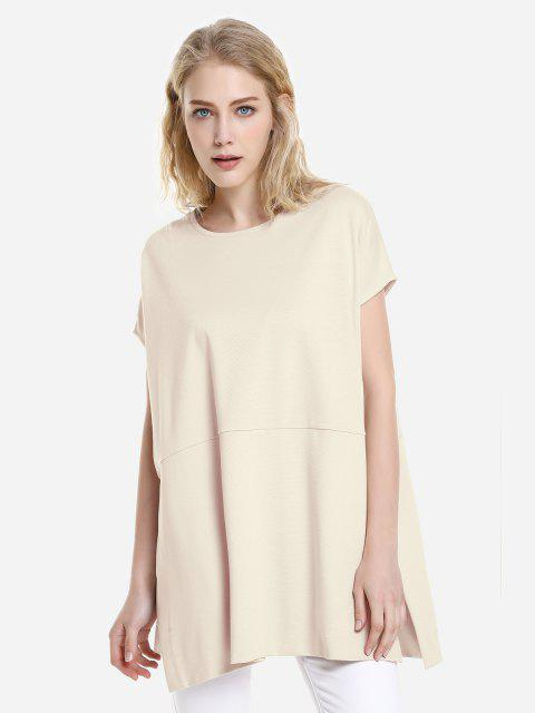 women's ZAN.STYLE Drop Shoulder Sleeve Top - APRICOT S Mobile