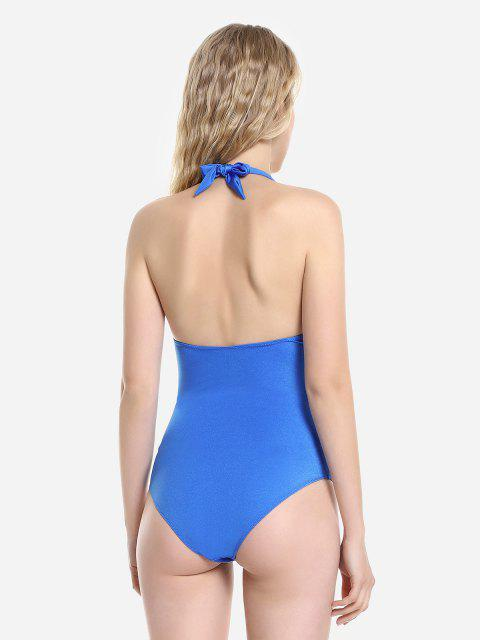 affordable ZAN.STYLE One-Piece Swimsuit - BLUE XL Mobile