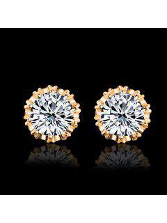Women Stud Earrings Crystal Stud Earrings Women Casual Party Earring Girls Gift Earrings - Gold