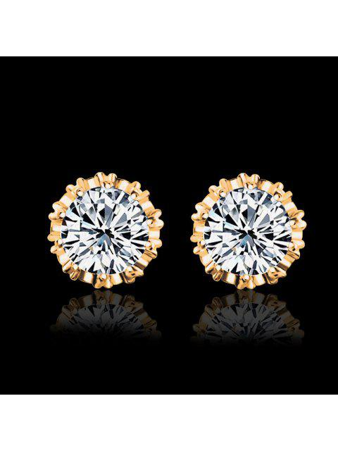 Women Stud Earrings Crystal Stud Earrings Women casual Party Earring Girls Gift Earrings - Or  Mobile
