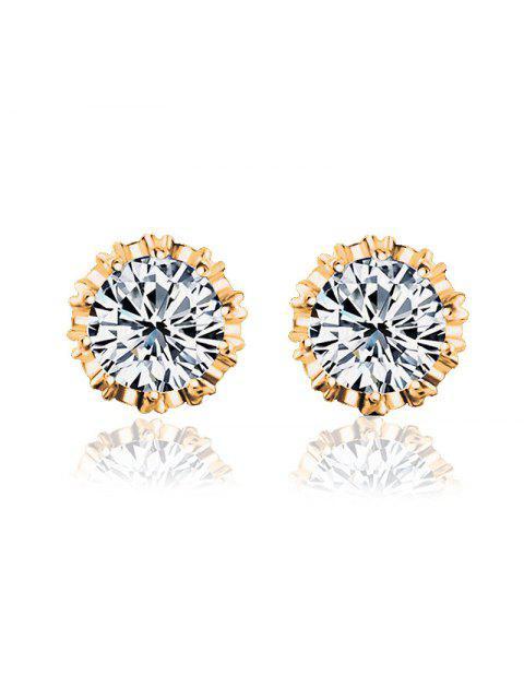trendy Women Stud Earrings Crystal Stud Earrings Women casual Party Earring Girls Gift Earrings - GOLD  Mobile