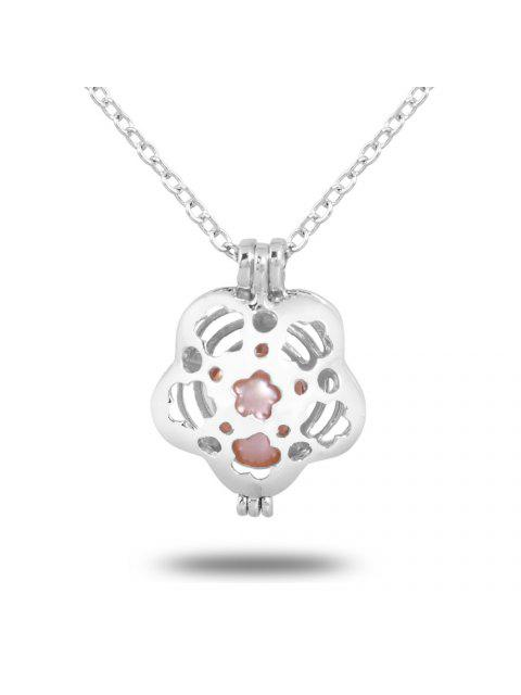 unique Women Stainless Steel Cube Pearl Necklace Charm Womens Beauty Jewelry Durable Necklace Gift - #005  Mobile