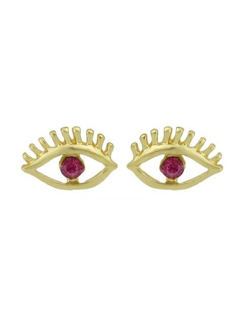 shop Simple Geometry Earrings Sweet Earrings Female Asymmetric Earrings - RED  Mobile
