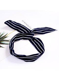 Fashion Plaid Knot Headband Turban Elastic Hairband Head Wrap Hair Accessories For Women Girls Striped Headwear Accessories - #011