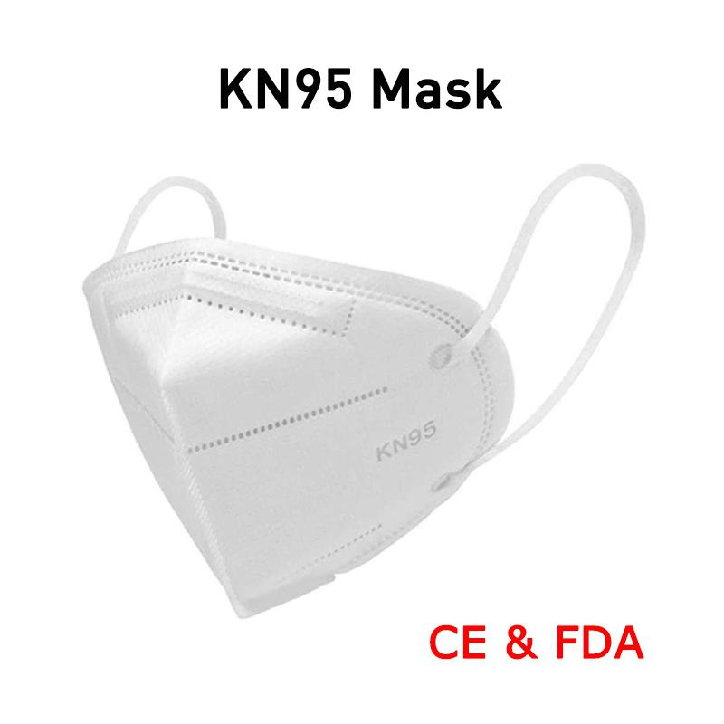 High-closed Dustproof KN95 Masks Professional Protection for Slit Splash PM2.5 Comfortable Elastic Earloop Type