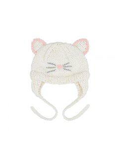 Sombrero Lindo Del Sombrero De La Decoración De Los Oídos Del Bordado Del Gato Del Sombrero Del Bebé - Rosa