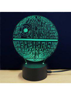 M.Sparkling Lámpara De Mesa 3D Creativa En Forma De Estrella De Muerte En Película Star Wars