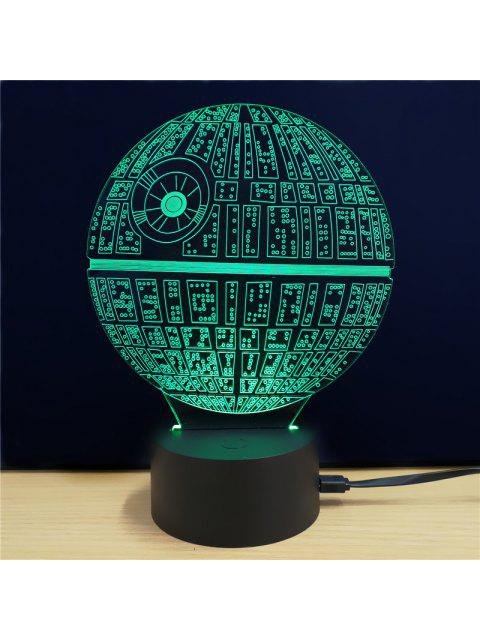 shop Shining Creative 3D LED Lamp The Death Star Shape Table Lamp - COLORFUL  Mobile
