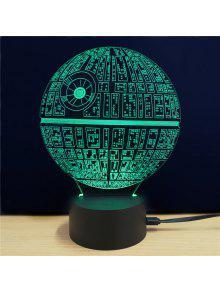 M.Sparkling الإبداعية 3D مصباح ليد نجمة الموت شكل الجدول مصباح