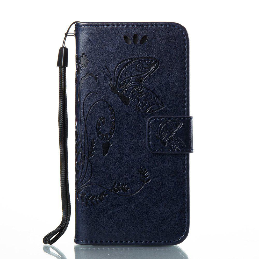 Wkae Flowers Embossing Pattern Housse en cuir PU Leather Flip Case pour Samsung Galaxy A3 2017