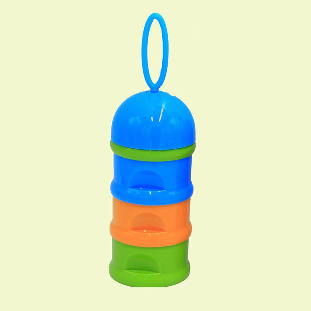 Bébé lait en poudre stockage trois couches coloré multifonctionnel bébé produit