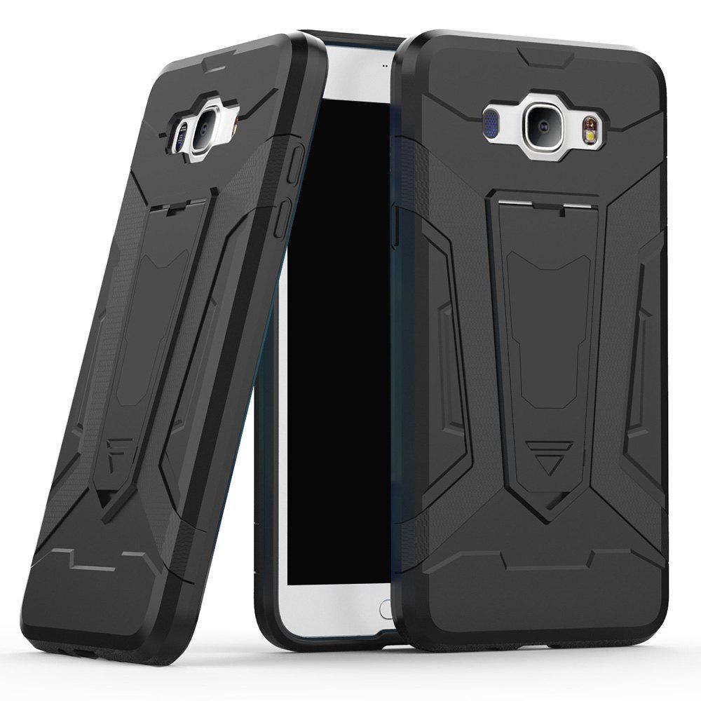 Housse de protection rigide à double couche hybride à double couche antichoc anti-choc avec étui de protection Slickcone Kickstand pour Samsung Galaxy J7 2016