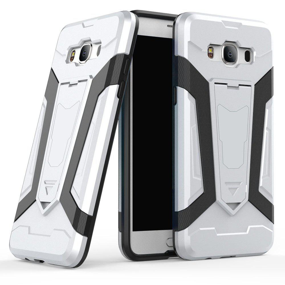 Hybrid Dual Layer Rugged anti-choc anti-choc Hard Back Pc avec Slilcone Kickstand Housse de protection pour Samsung Galaxy J5 2016