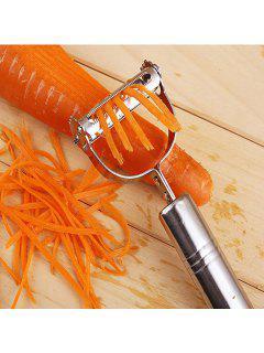 DIHE 2-In-1 Vegetable Potato Slicer Grater Peeler Shredder Chopper For Cucumber / Carrot / Tomato / Onion / Melon - Silver