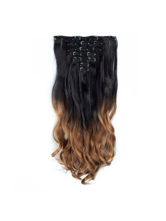 2018 Todo 24inch Curly Ombre Style 7 Piece 16 Clip Hair Extensions