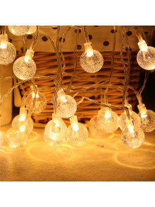 20-ليد فقاعة الكرة شكل شجرة عيد الميلاد سلسلة أضواء مزينة الملونة مصباح - دافئ الضوء الأبيض
